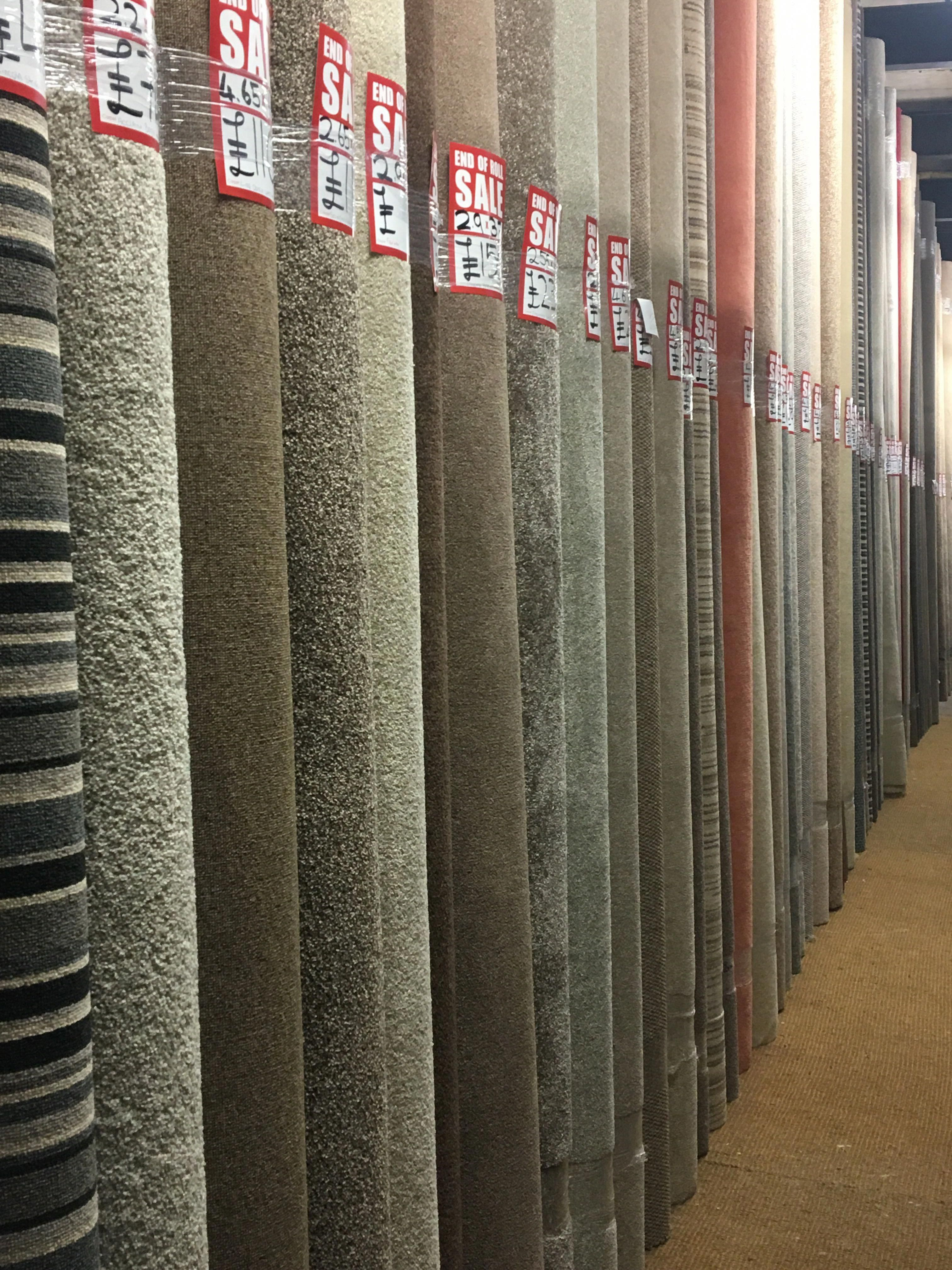 50 OFF marked prices on carpet & vinyl remnants in our