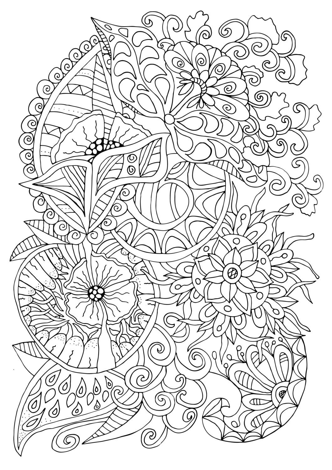 Simple Grown Up Coloring Books