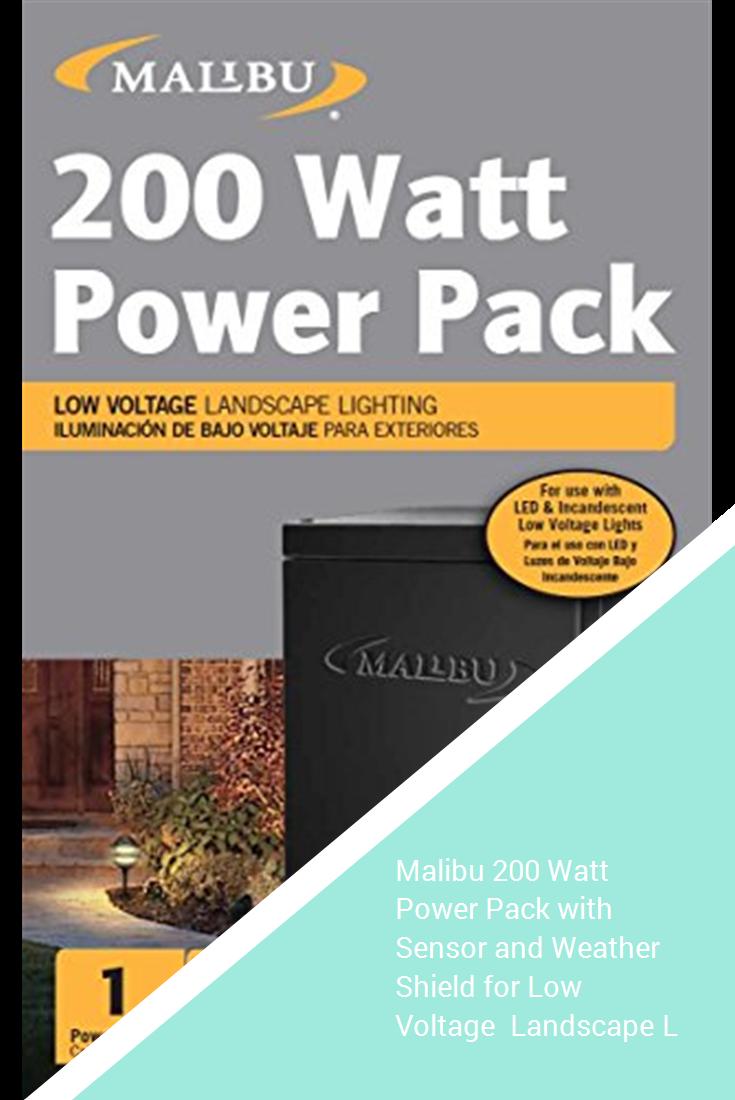 Malibu 200 Watt Power Pack With Sensor And Weather Shield For Low Voltage Landscape Lighting Spotlight Outdoor Transformer 120v Input 12v Output 8100 0200 01