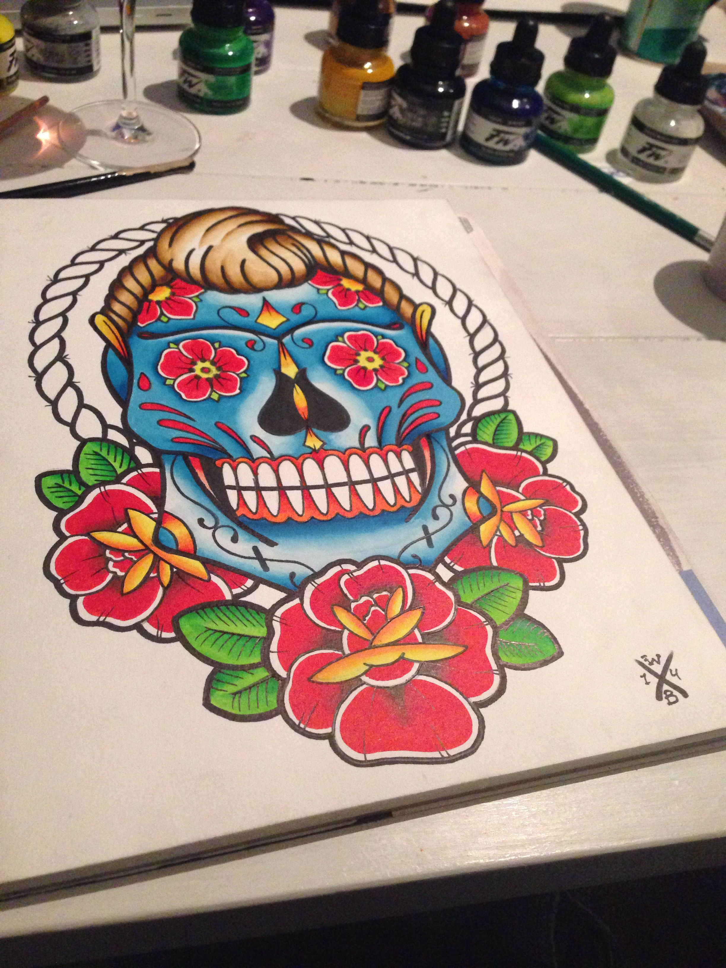 By Wesley Bekkers #art #apprentice #apprenticeart #skull #sketch #scumbag #scumbekkers #draw #design #flash #flower #flashart #barber #bekkers #barberflash #paint #print #ink #sugar #diaz #muertes #tattoo #tattooart #tattoolife #tattoolove #tattooflash #tattoosofig #traditional #traditionalflash #traditionaltattoo #traditionaltattooflash
