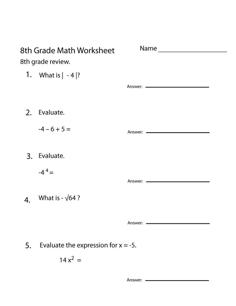 Grade 8 Math Worksheets Printable Shelter 8th Grade Math Worksheets Math Worksheets Math Practice Worksheets
