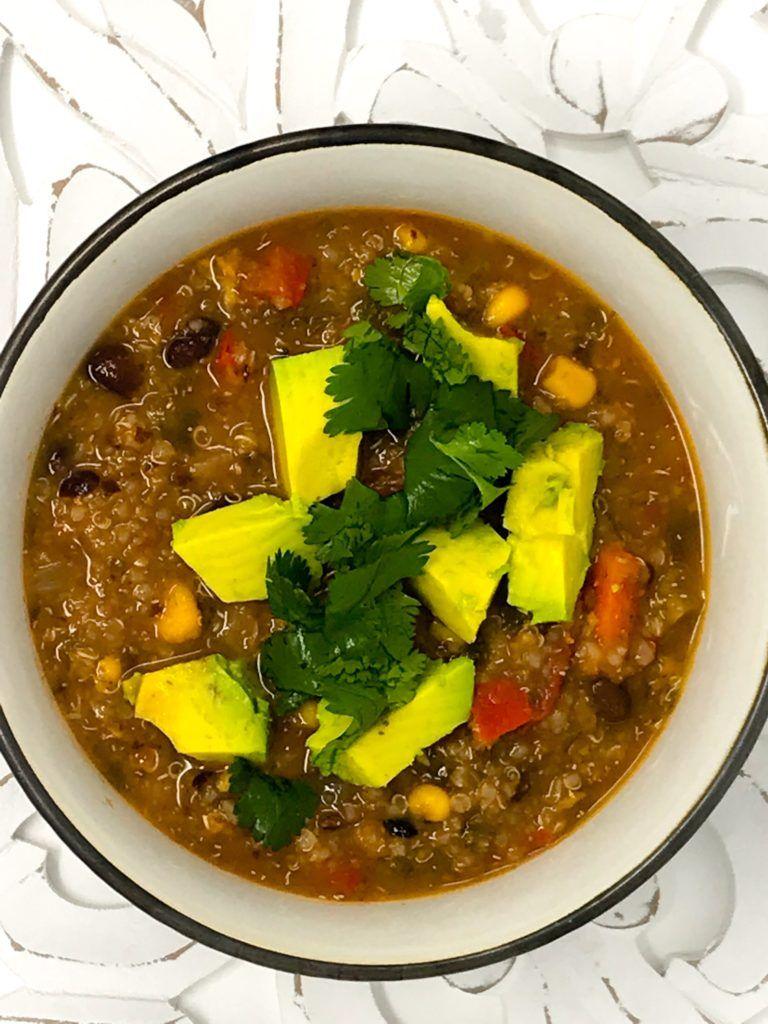 Vegetarian Mexican Quinoa Stew Healthy Food 4 Life Recipe Vegetarian Mexican Healthy Recipes Mexican Quinoa