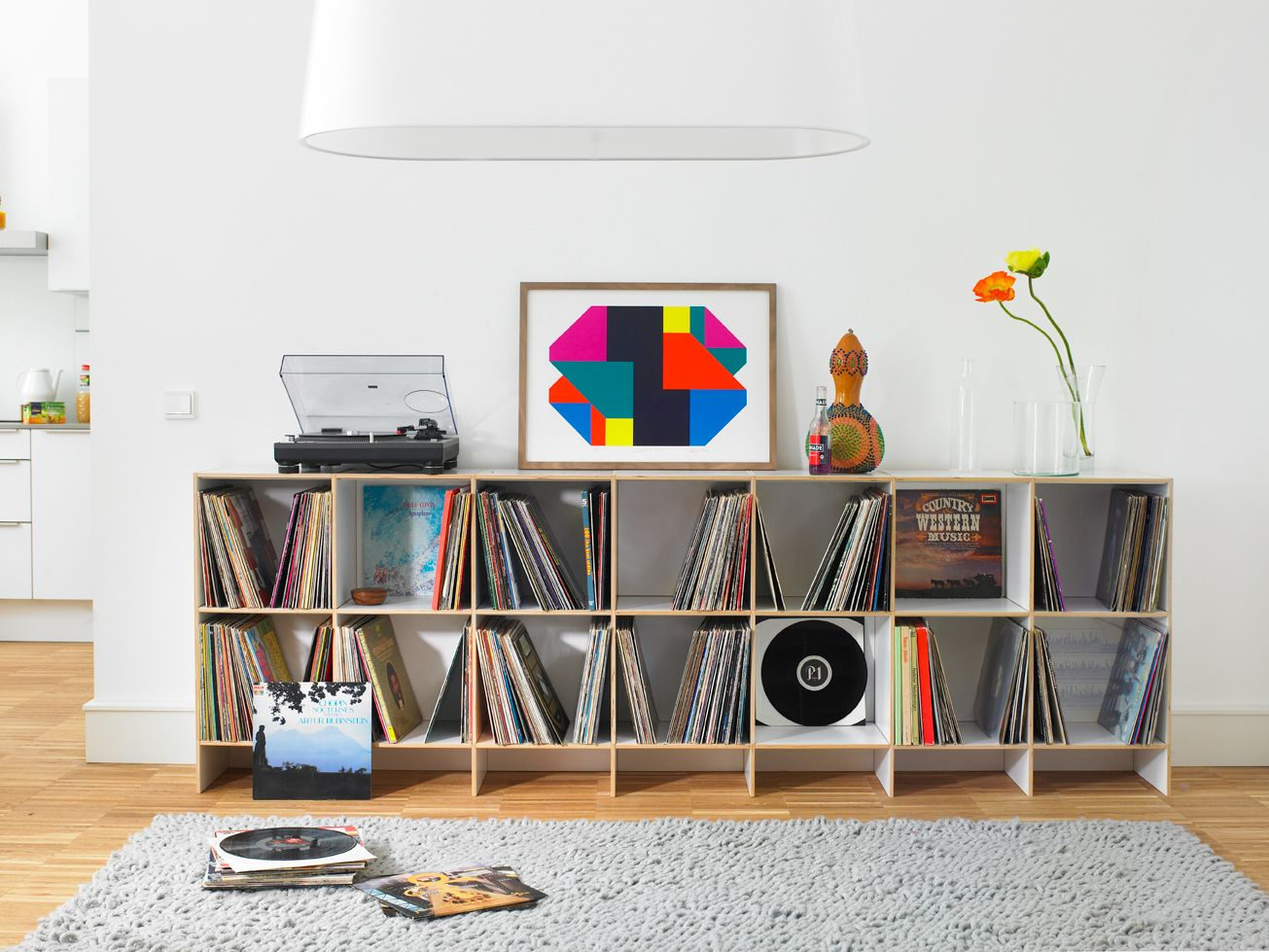 schallplattenregal als sideboard konzipiert - Schallplattenregal
