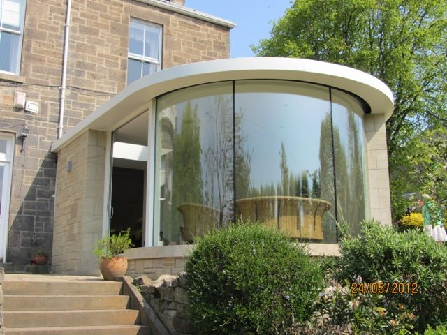 Curved Window Curved Glass Bay In 2019 House Extension