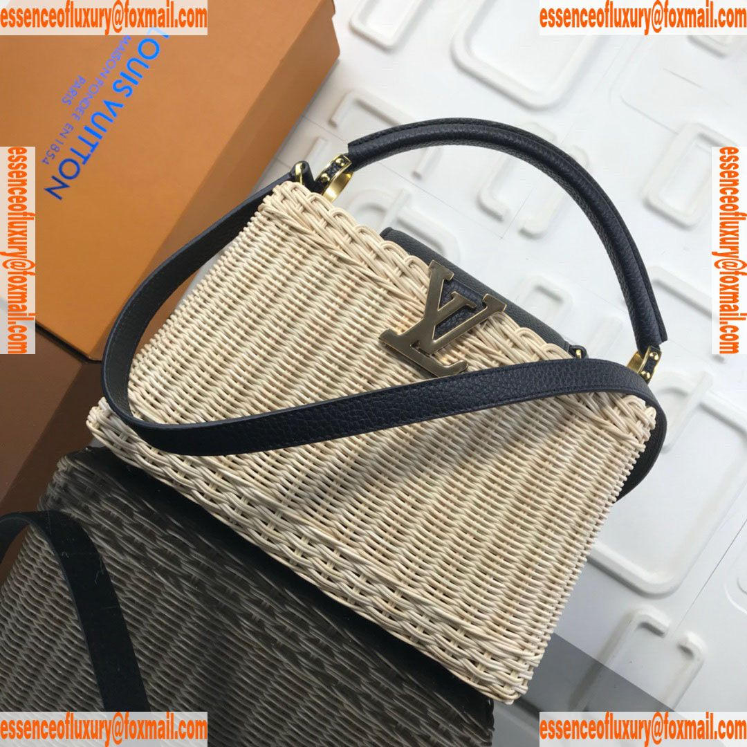 6d19bff72491 Louis Vuitton Wicker Capucines BB Tote Bag LV Luxury Bags M50011 27x17x9CM  A156PP300 AA67576