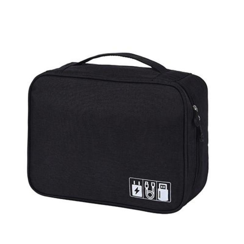 Portable Digital USB Gadget Travel Organizer - Black
