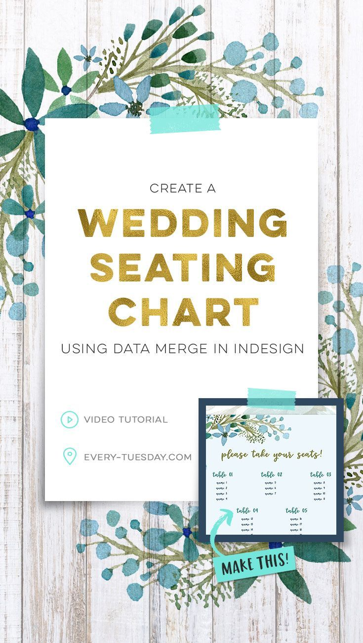Create a Wedding Seating Chart using Data Merge in InDesign