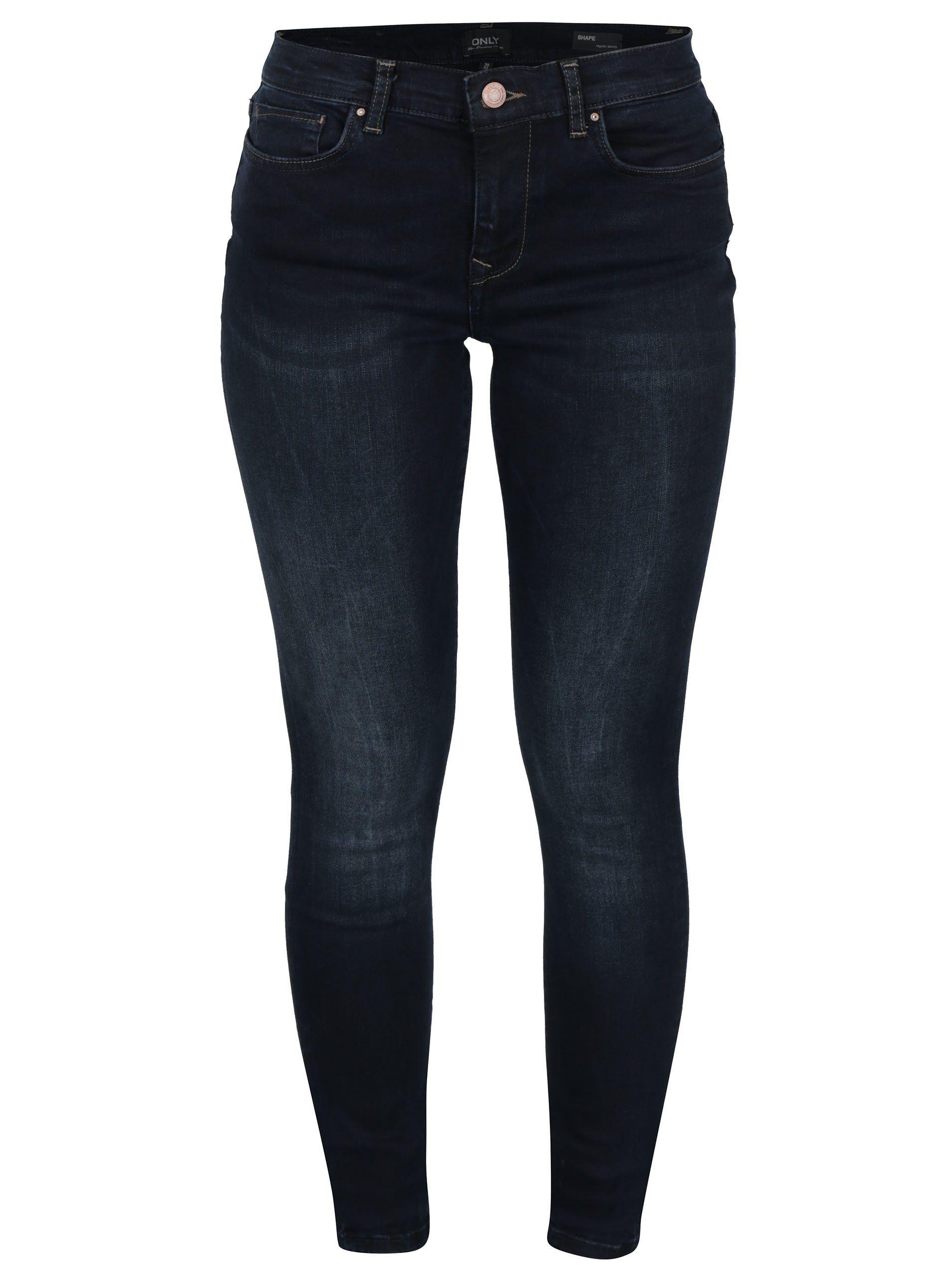 b4b761f91cf Tmavě modré skinny fit džíny ONLY Shape