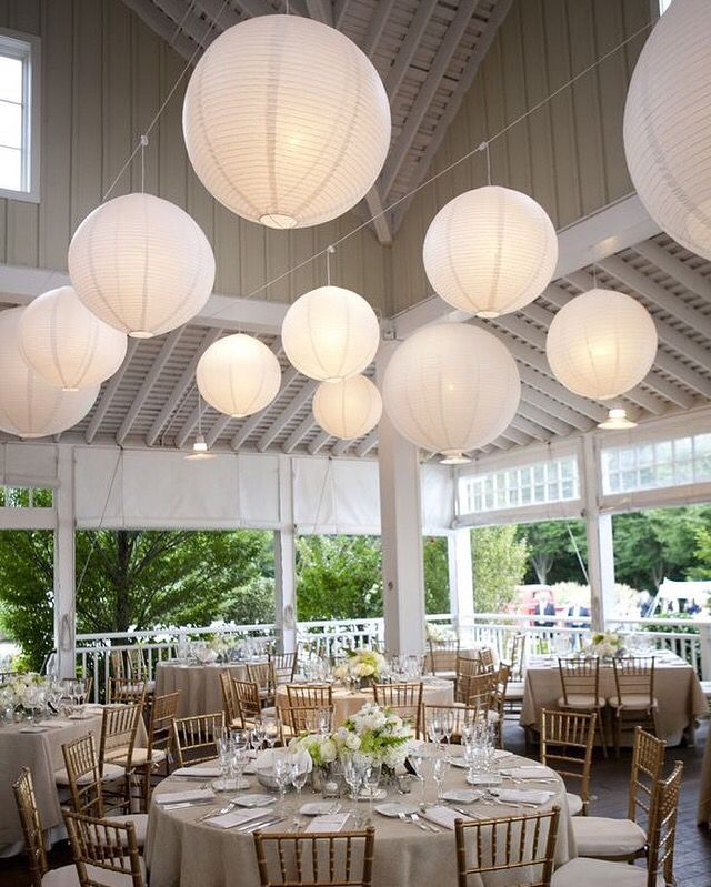 Paper Lanterns Wedding Decoration Ideas: Witte Lampionnen Bruiloft Inspiratie Wedding Inspiration