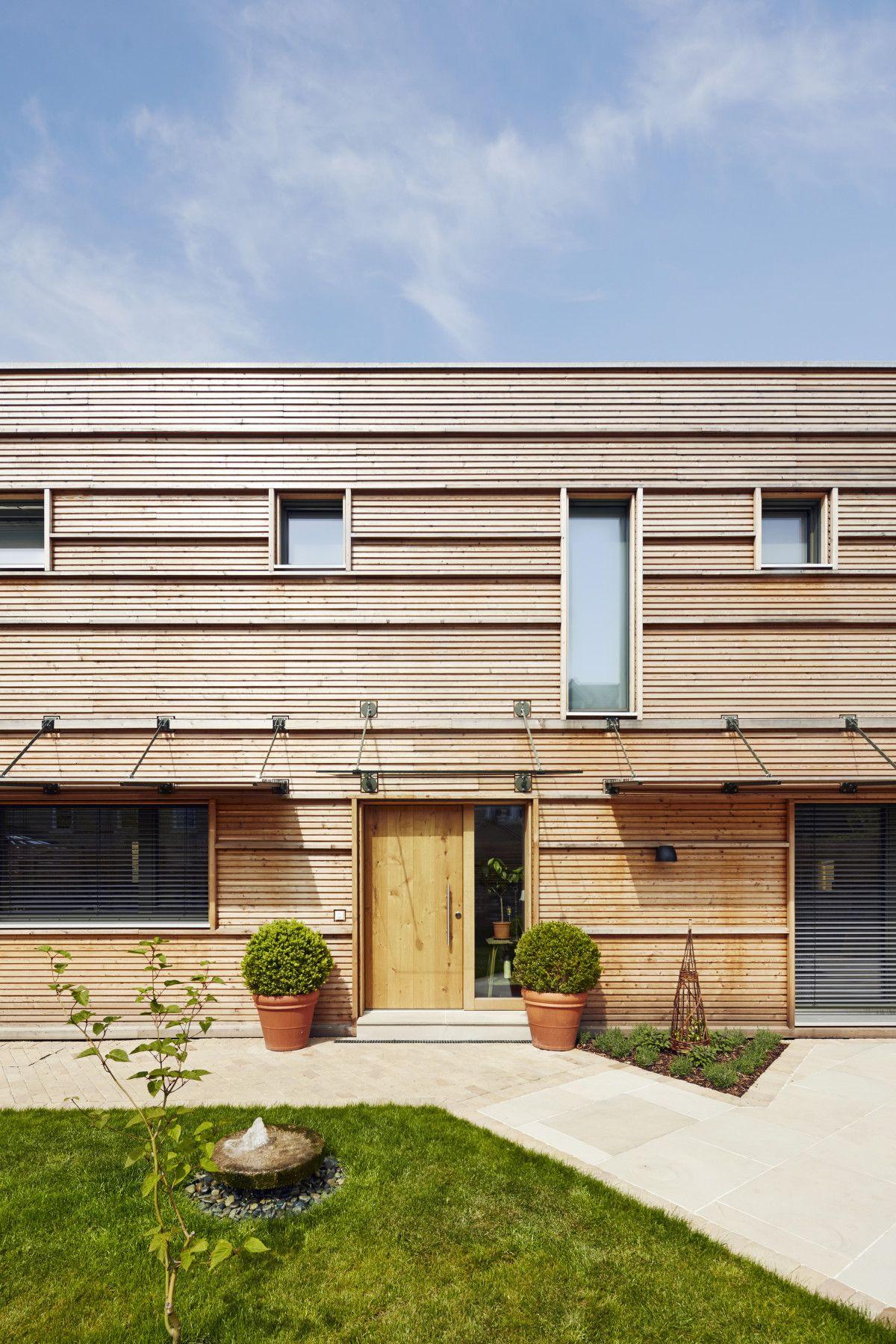 Brilliant Fertighaus Aus Holz Sammlung Von Mit Fassade Eingang überdacht - E Von