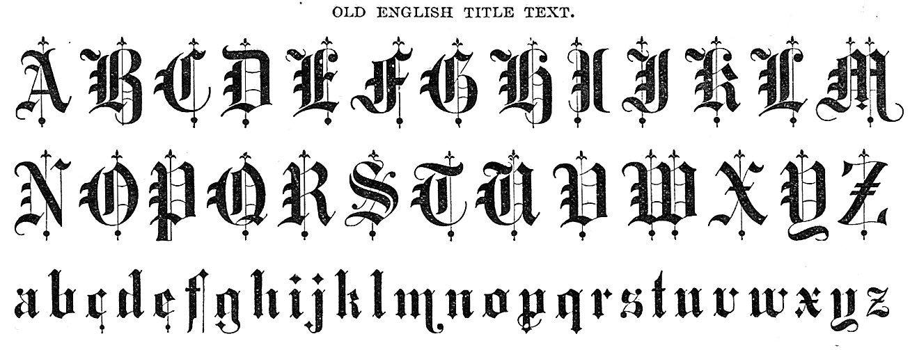Medieval font tattoos pinterest