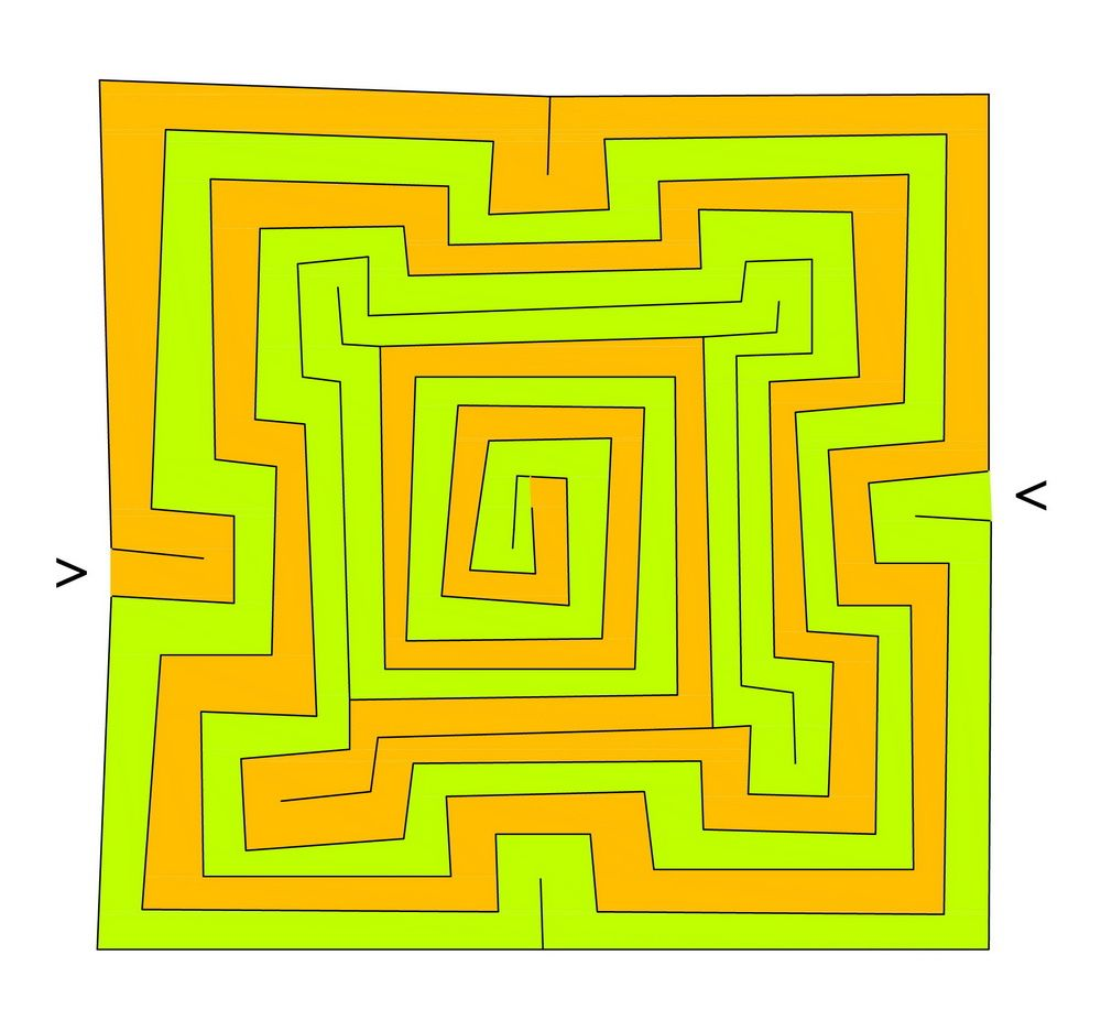 The Babylonian Labyrinth Maze Paths Meditation Circuit Classical From A 5circuit Chartres Square