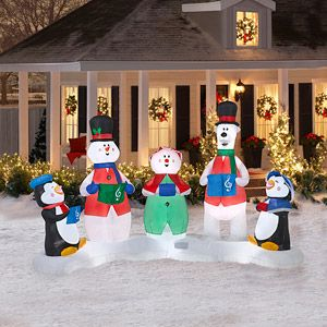 7 Tall X 4 Long Airblown Christmas Carolers Inflatable Inflatable Christmas Decorations Cute Christmas Decorations Outdoor Christmas Decorations