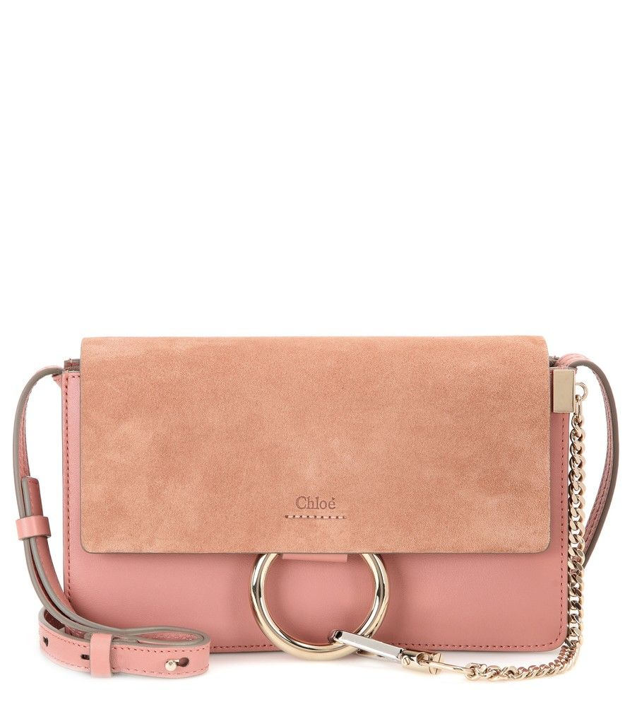 Chloé - Faye Small suede and leather shoulder bag - Chloé's 'Faye ...