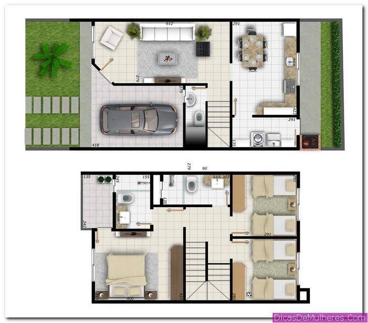 Plantas de casas com quartos de cima casas plantas de for Plantas arquitectonicas de casas