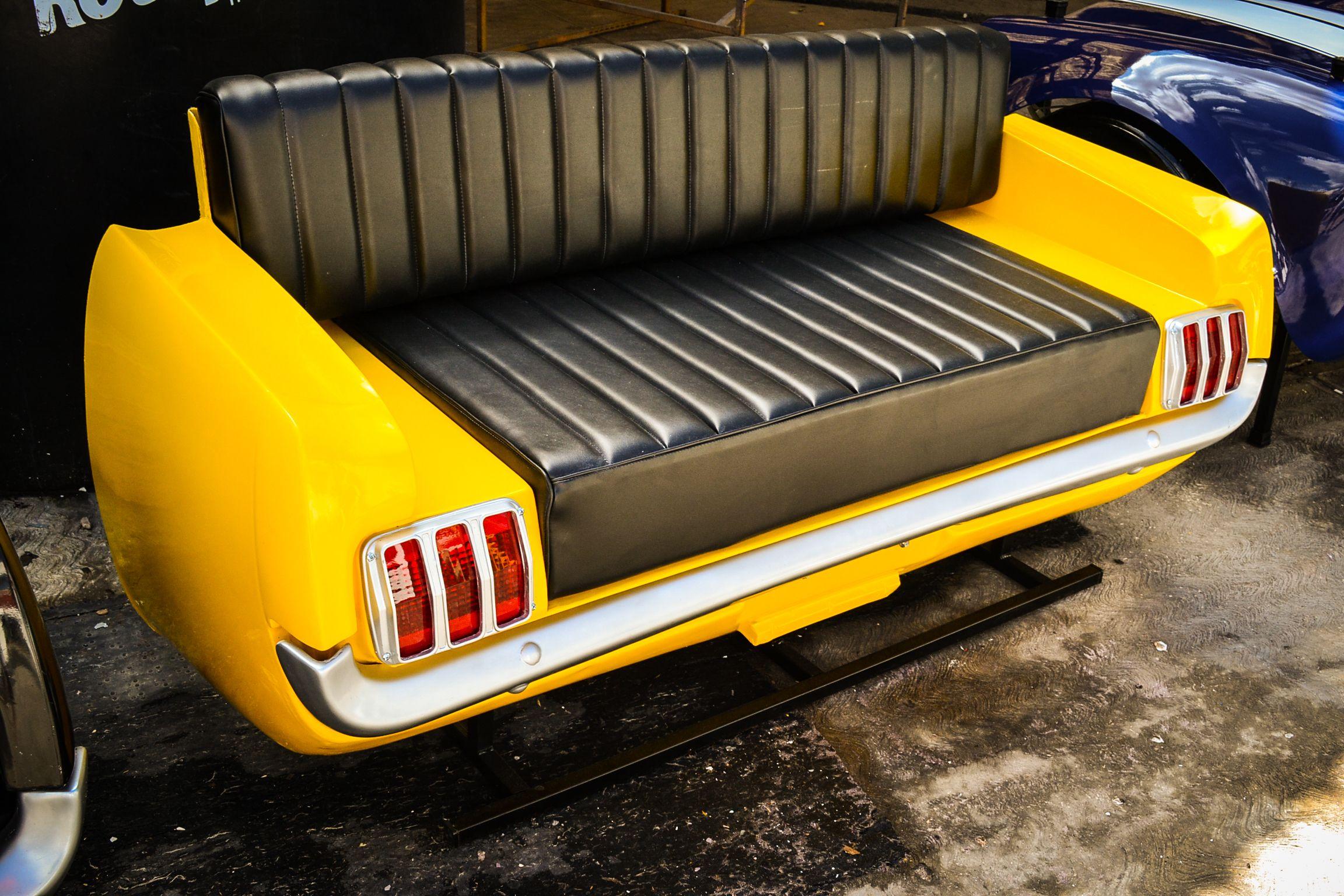 Sill N Mustang Fabricado En Fibra De Vidrio Coches Retro  # Muebles Para Vehiculos Industriales