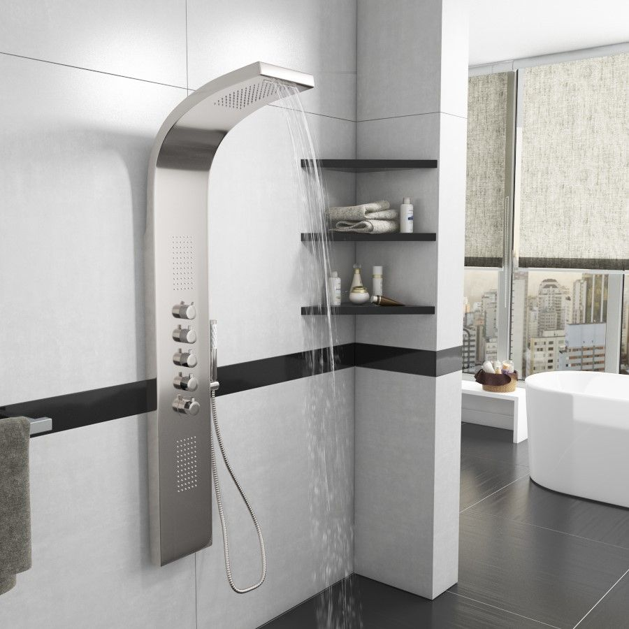 Synergy Monroe Waterfall Shower Panel (Stainless Steel)