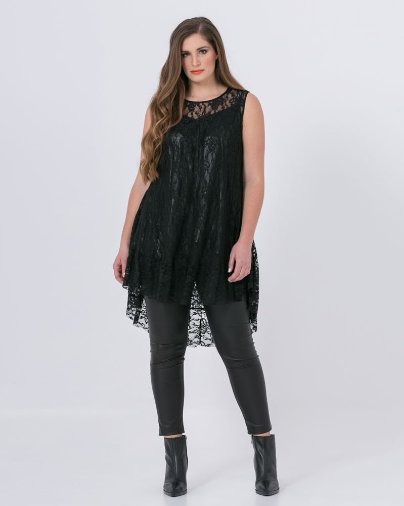 c682fc967cbb Δαντελένια τουνίκ με βολάν — mat. XXL sizes — Γυναικεία Ρούχα ...