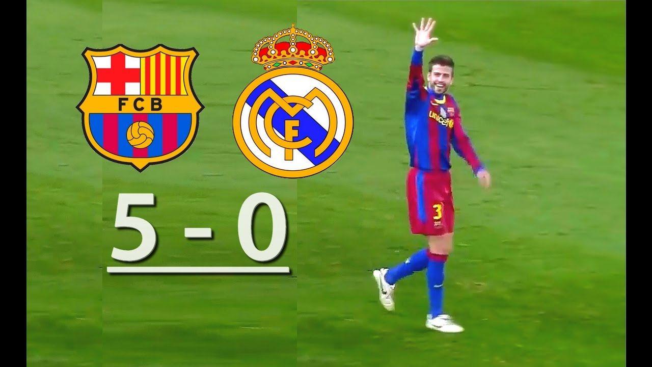Barcelona Vs Real Madrid 5 0 Barcelona Vs Real Madrid Real Madrid Messi Vs