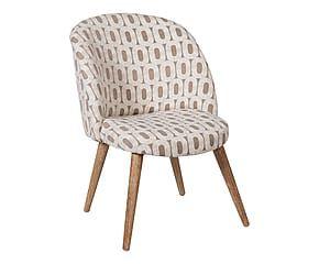 Chaise bois d'hévéa et polyester, blanc et nougat - L55 199€