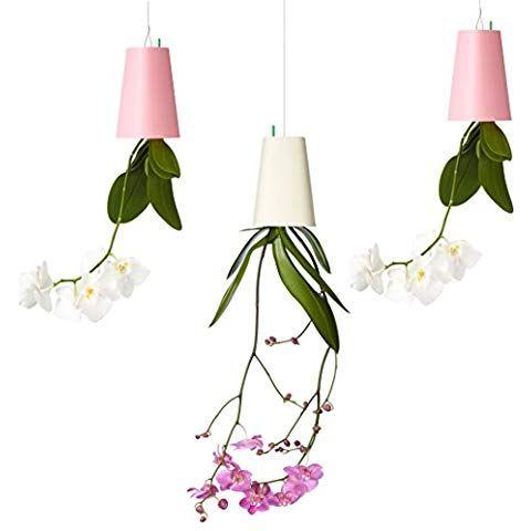 Sky Planter Lot de 3 pots de fleurs suspendus Petit Rose/blanc/rose