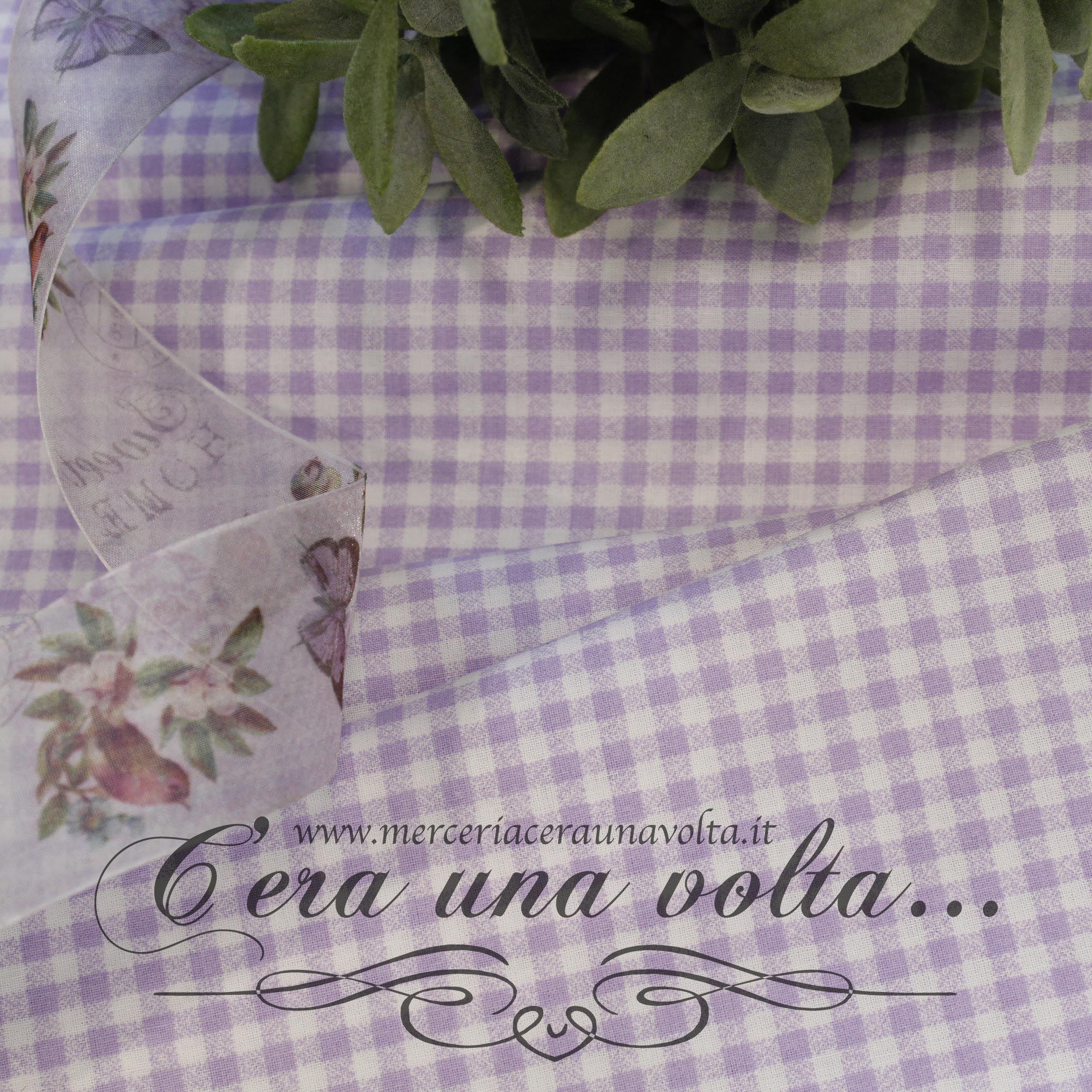 new style 8d939 90a10 Tessuto Fantasia Vichy Glicine | TESSUTI | Tessuti, Glicine ...