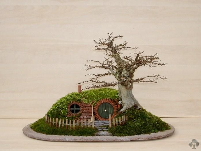 Find This Pin And More On Miniaturas. Miniature Hobbit Home: Bag End Bonsai  ...