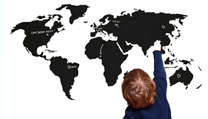 Buy world map chalkboard decal uk deal for just 699 educational buy world map chalkboard decal uk deal for just 699 educational and decorative this world map chalkboard decal is a great addition to any wall gumiabroncs Gallery