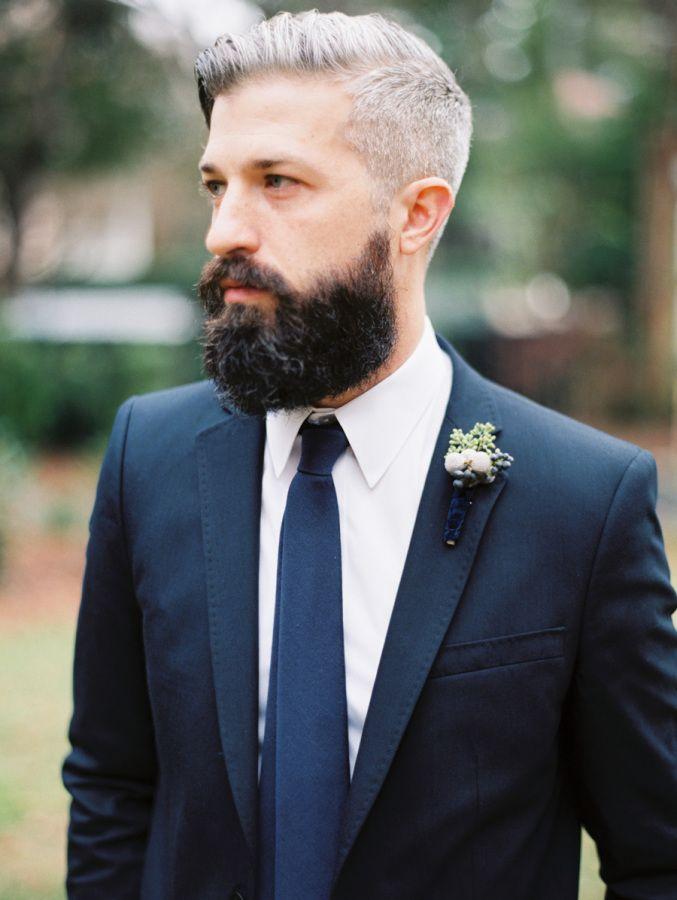 Elegant Navy + Blush Charleston Wedding | Beard styles for ...