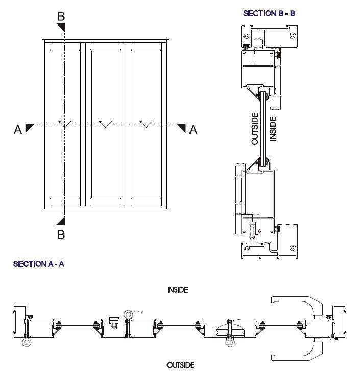 Vistafold Aluminium Folding Doors Rda Aluminium 47584 Wooden