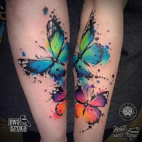 atemberaubende aquarelle mit ewa sroka tattoo tatoo and tatting. Black Bedroom Furniture Sets. Home Design Ideas