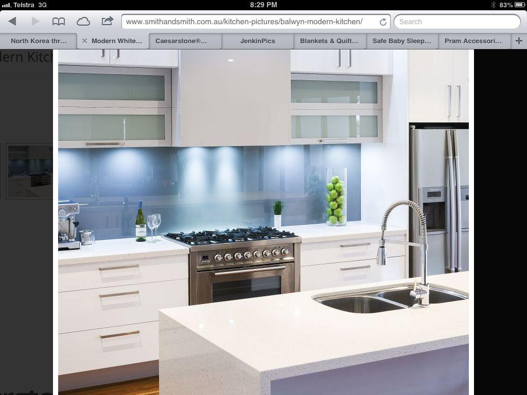Love the splash back and under cupboard lighting. | Kitchen ...