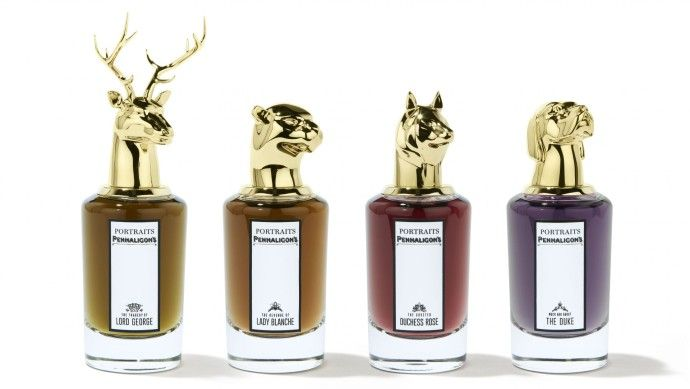 The collection with Four parfumes by Penhaligons Group