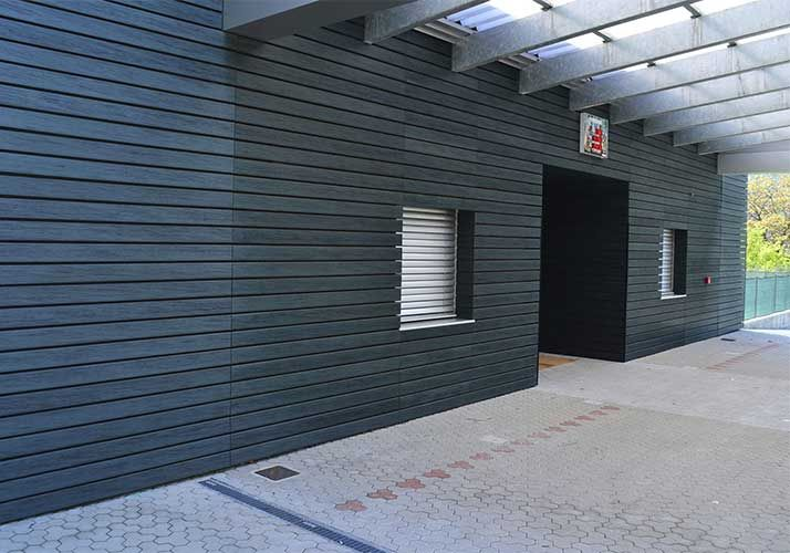 Pe Wood Plastic And Pvc Wood Plastic Difference Outdoor Wall Panels Outdoor Walls Wall Paneling