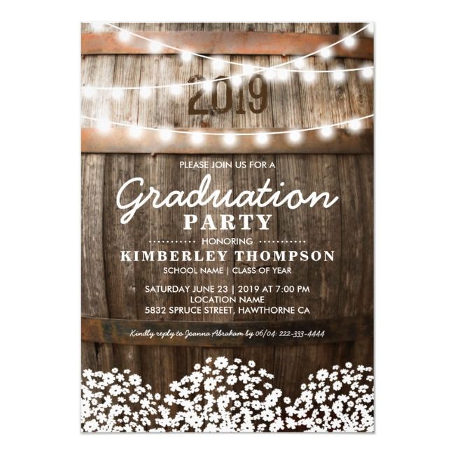 Small Wedding Ideas On A Budget: Country Rustic Photo 2020 Graduation Party Invitation