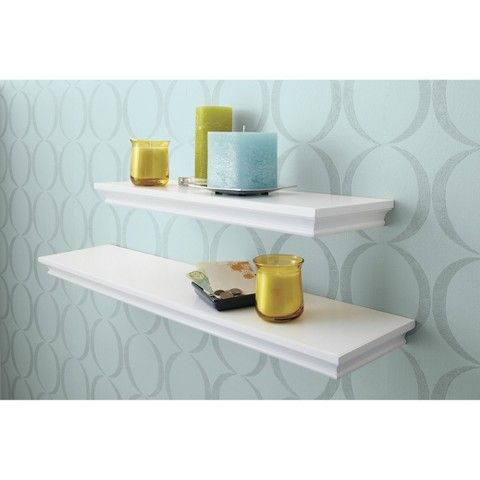 Target Floating Shelves Endearing Threshold Shelves  Target  White Floating Shelves  Bbg Nursery Design Inspiration