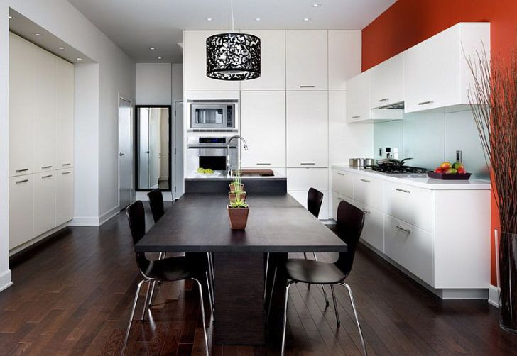 Cocina pared roja
