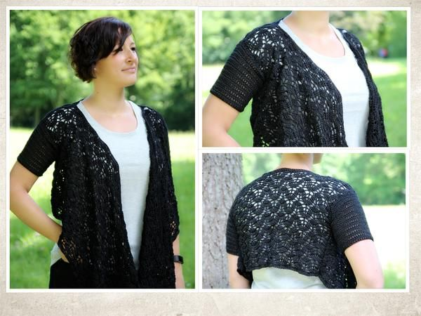 Bolero shrug Crochet pattern -- in English and German -- approx ...