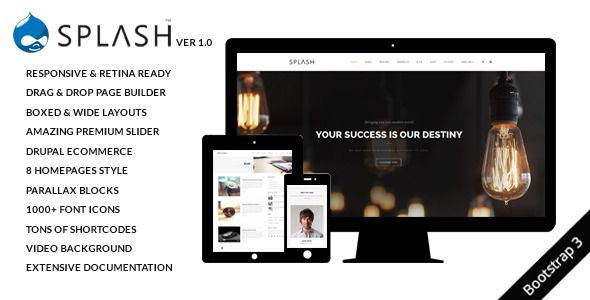 Splash - MultiPurpose, Creative Drupal Theme - Drupal CMS Themes ...