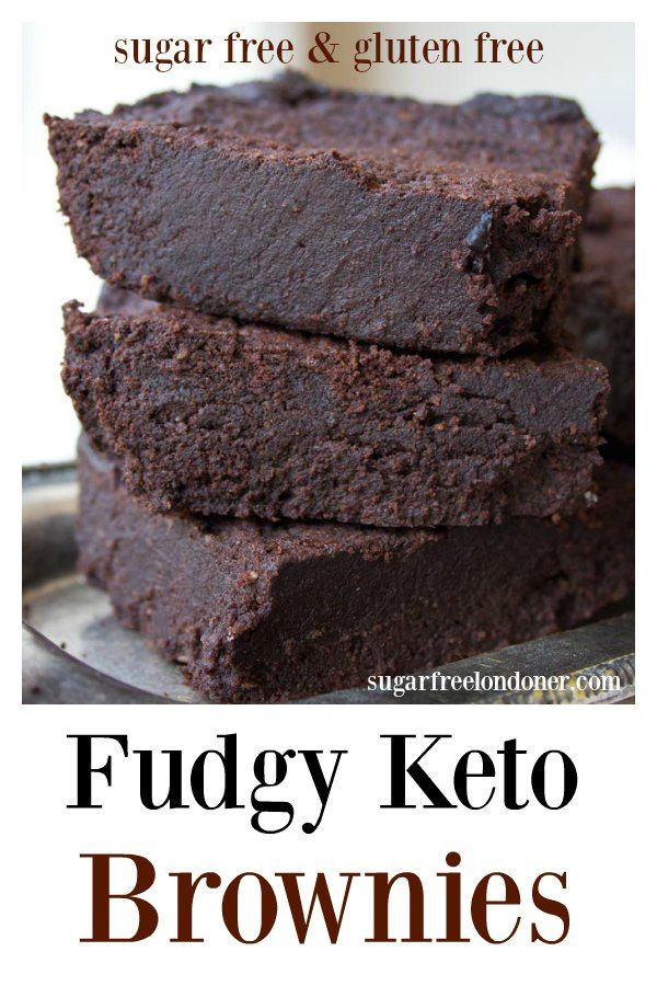 The fudgiest, most chocolatey Keto brownies ever. This simple low carb and sugar free recipe makes