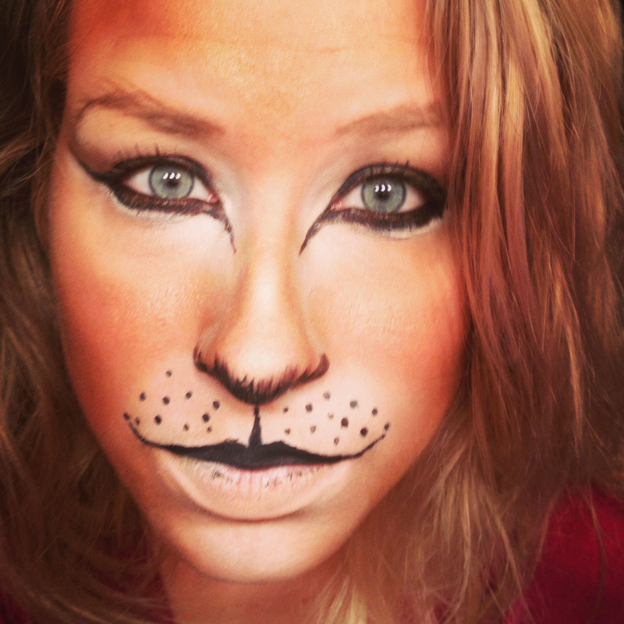 Lion, lioness , Leo makeup style for Halloween | Makeup ...