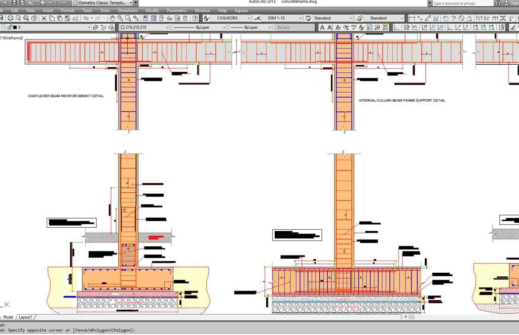 Reinforced Concrete Beam Column Multistorey Frame Connections In 2020 Reinforced Concrete Floor Framing Concrete