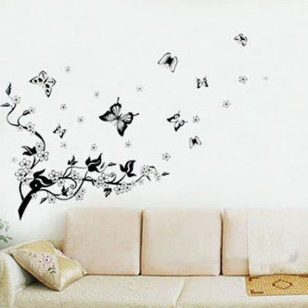 Amazon.com: niceEshop(TM) Plum Blossom Tree &Flying Butterflies wall Sticker decals: Home & Kitchen