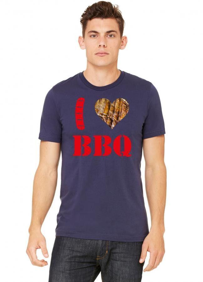 i love barbeku et kirmizi Tshirt
