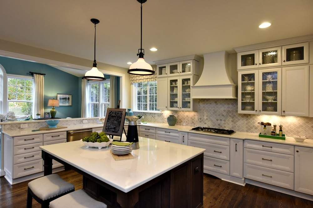 Charmant Transitional Two Finish Kitchen Design Raleigh, NC