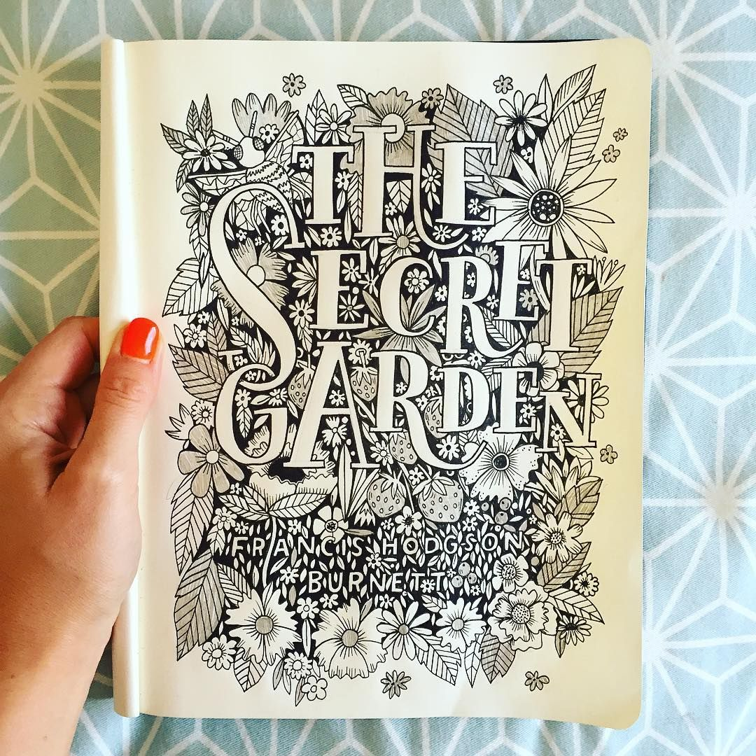 My paws are always busy drawing something ✏️ #handlettering #handdrawntype #thesecretgarden #lettering