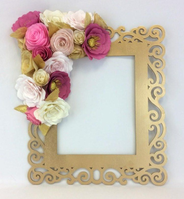 Diy Paper Rose Flowers Photo Frame Step By Step Step By Step