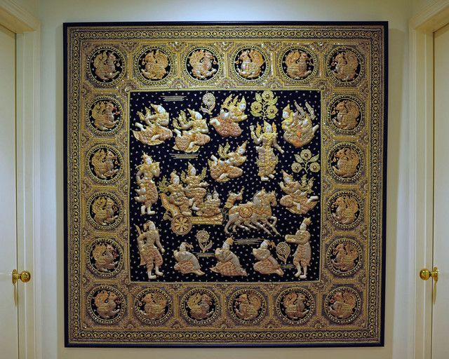 Kalaga Burmese Embroidered Tapestry Antiques Collectibles Forum Gardenweb Southeast Asian Arts Buddhist Art Myanmar Art