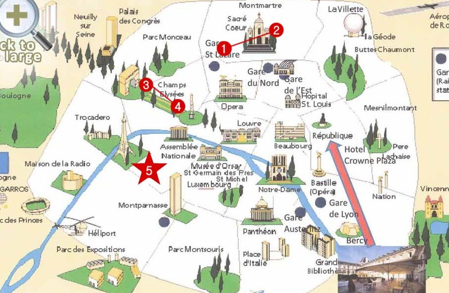 paris-tourist-map in 2019 | Paris itinerary, Paris tourist ...