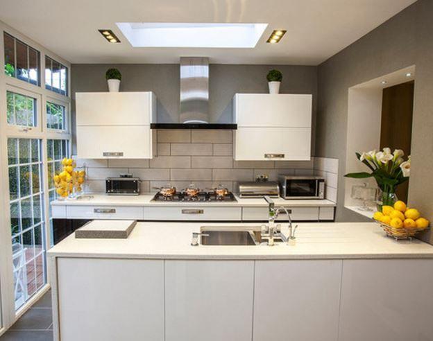 resultado de imagen para casas pequeas lineales proyecto cocina pinterest with diseos de cocinas pequeas modernas